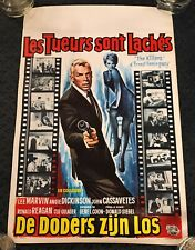 """""""THE KILLERS"""" 1964 Belgian Movie Poster 14x22  Donald Siegel Lee Marvin Reagan"""
