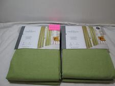 "Threshold Light-Filtering Rod Pocket Curtain Panel Two - 54""x84"" Green Farrah"