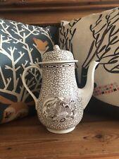 Vintage Adams Ceramic Teapot Chinese Bird English Ironstone