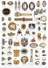 Giftwrap / Poster Print - Antique Jewellery, 1690-1830 - 700 x 500mm