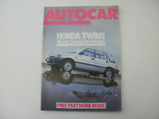 Autocar 1985.Honda civic shuttle 4WD. Land Rover 90 v8. Golf GTi. WW2 Humber. GP