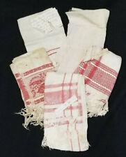 Antique 1890'S Linen Towels Lot Of 5