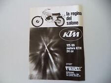 advertising Pubblicità 1976 MOTO KTM GS 125
