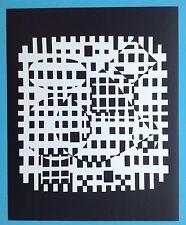 Victor VASARELY I Offset Originale de 1973 Op Art Optique Cinétique 44ans