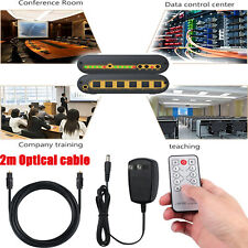 4x2 Digital Audio Switcher Splitter 4 in 2 Out With SPDIF/TOSLINK Optical Cable