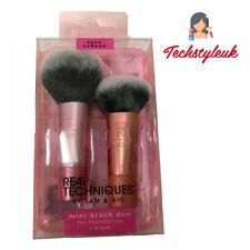 Real Techniques mini brush duo travel expert face blush cheek blend buff cover
