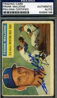 Frank Malzone 1956 Topps Psa/dna Signed Original Authentic Autograph