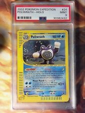 2002 Pokemon Expedition 24 Poliwrath-Holo PSA 9 Mint Card