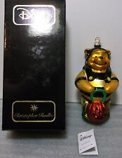 Radko Disney Winnie the Pooh Halloween Glass Christmas Ornament NEW NIB