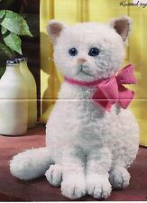 "BABIES~TOY CAT~SNOWFLAKE ~ ALAN DART~KNITTING PATTERN~SIZE 13"" TALL (pull-outs)"
