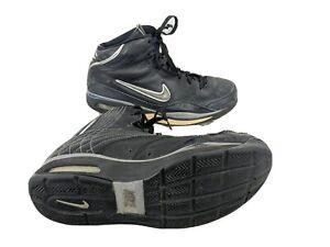 Nike Elite Mens US 10.5 EUR 44.5 Black Silver High Top Basketball Sneaker