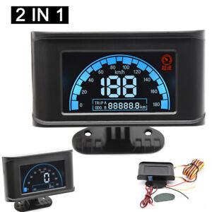 Digital LCD Car Truck Speedometer Speed Meter + Odometer Gauge Overspeed Alarm