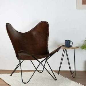 Handmade Leather Butterfly Chair Living Room Chairs Replacement Full Chair