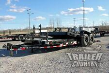 New 7 X 22 14k Heavy Duty Low Profile Tilt Deck Flat Bed Equipment Trailer