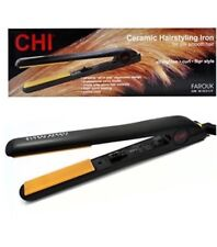"CHI 1"" Ceramic Flat Iron Hair Straightener Hairstyling Professional Iron - NEW"