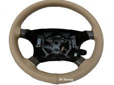 Si adatta 2010 + VW Touran Mk2 migliore qualità BEIGE ITALIAN LEATHER STEERING WHEEL COVER