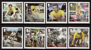 ISLE OF MAN 2013 TOUR DE FRANCE CYCLING SET OF 8 UNMOUNTED MINT, MNH