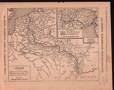 WWI Map Carte Belgique  Alsace Lorraine France Italy/Bulgaria 1915 ILLUSTRATION