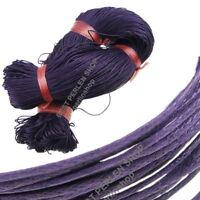 40 METER Wachsband Wachsschnur Violett 1mm FADEN SCHNUR Baumwollkordel  BEST C5