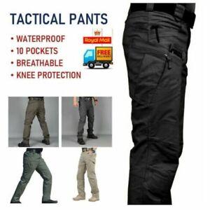 Mens Waterproof Hiking Tactical Trousers Outdoor Fishing Walking Combat Pants