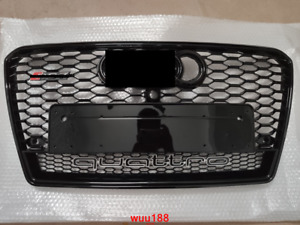 For Audi A7 S7 RS7 2011-2014 Style black Grill black frame black ring W/ Quattro