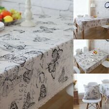 Butterfly Pattern Tablecloth Dining Desk Table Cloth Covers Kitchen Home Decor