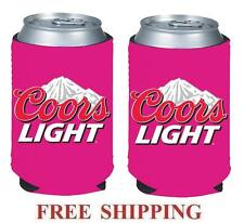 Coors Light Mountains 2 Beer Can Cooler Coozie Coolie Koozie Huggie Pink New