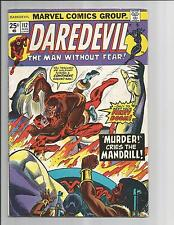 DAREDEVIL #112  VG/FN VERY GOOD/FINE WHITE PAGES  BRONZE AGE  MARVEL COMICS 1974