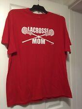 Lacrosse Mom Red T-Shirt Size Medium NwoT Tee