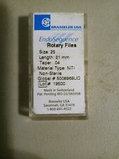 Brasseler Size 25 Length 21mm Taper 04 Endosequence Rotary Files 4pc Pack