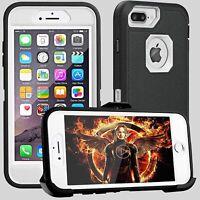 For IPhone 8 Plus/7 Plus 6+ Heavy Duty Tough Black/White Case fit Otterbox Clip
