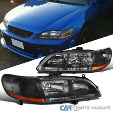 For Honda 98-02 Accord Replacement Black Housing Head Lights Driving Lamps Pair