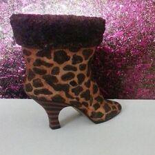 Collectible Decorative Ladies Shoe Cheetah pattern Steps In Time Jungle Fever