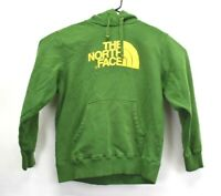The North Face Men's Large Big Logo Green Hoodie Hooded Sweater Cotton Blend