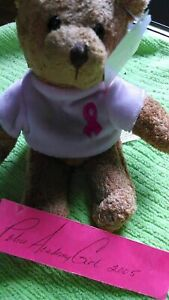 *BREAST CANCER BEAR* Avon Collectible Breast Cancer Stuffed Bear Retired NWT