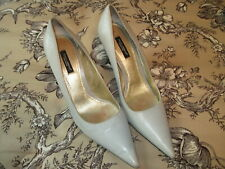 Dolce & Gabanna Women's Gray Leather, Closed Toe Heels,  Size 38.5 (w/dust bag)