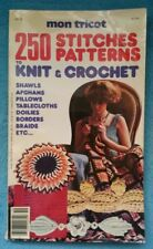 Vintage Mon Tricot 250 Patterns Stitches to Knit & Crochet