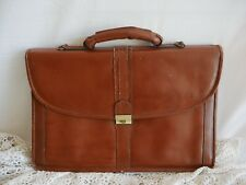 Vintage Genuine Leather Briefcase Satchel Bag  Laptop Brown