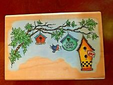 Stamping Rubber Wooden Crafts Cards Birdhouses New Decor Embossing Party Stampen