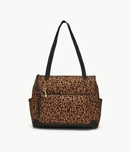 Fossil Jenna Shopper Shoulder Bag Cheetah Print