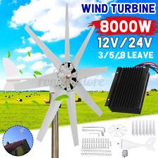 8000W Wind Turbine Genertor Kit 12/24V Aerogenerator 3/5/8 Blades w/ Controller