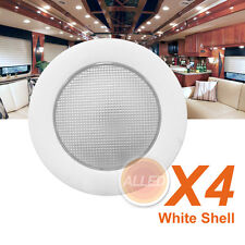 4X12V Cool White LED Dome Light Camper Trailer/Caravan Roof Down Lamp No Switch