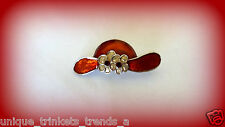 RED HAT SOCIETY LADY FLOWER BROOCH PIN ~MOTHERS DAY GIFT FOR HER MOM WIFE FRIEND