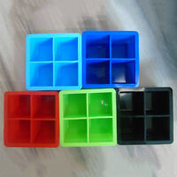 4grid Silicone Drink Ice Cube Pudding Jelly Square Mold Mould Tray Tool Cocktail