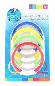 2 Pack Intex Underwater Dive Holiday Pool Colourful Dive Sticks, Rings, Balls