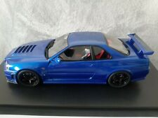 Nissan Skyline R34 GTR Z tune Bayside Blue Otto Kyosho 1:18 RARE limited