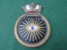 More details for royal navy hms wakeful cast aluminium ships plaque