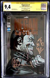 Negan Lives #1 Walking Dead BRONZE Foil Variant CGC 9.4 SS w/Negan Remarqure