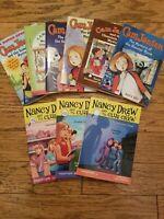 Lot of 9 CAM JANSEN & NANCY DREW clue crew books mystery chapter Keene Adler