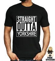 Straight Outta Yorkshire T-shirt Men's Funny Movie Film Parody Tee Size S - 4XL